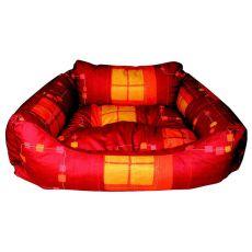 Pelech pre psa - hranatý, červený, 60x45x20 cm