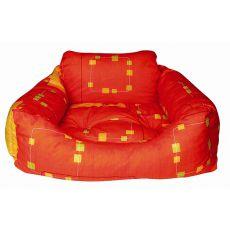 Pelech pre psa - hranatý, oranžový, 75x60x23 cm