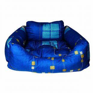 Pelech pre psa - hranatý, modrý, 75x60x23 cm