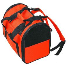 Prenosná taška pre psy a mačky, oranžová - čierna  36 cm
