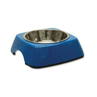 Miska pre psa DOG FANTASY, hranatá - 0,16L, modrá