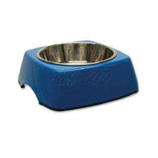 Miska pre psa DOG FANTASY, hranatá - 0,35L, modrá