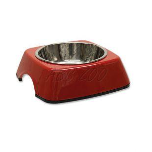 Miska pre psa DOG FANTASY, hranatá - 0,16L, červená