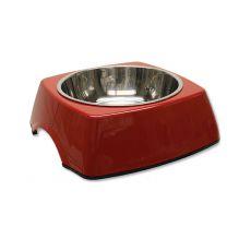 Miska pre psa DOG FANTASY, hranatá - 0,70L, červená