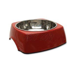 Miska pre psa DOG FANTASY, hranatá - 1,40L, červená