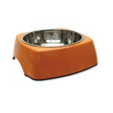 Miska pre psa DOG FANTASY, hranatá - 1,40L, oranžová