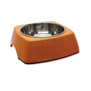 Miska pre psa DOG FANTASY, hranatá - 0,70L, oranžová