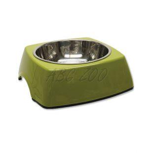 Miska pre psa DOG FANTASY, hranatá - 0,70L, zelená