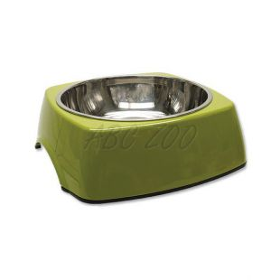 Miska pre psa DOG FANTASY, hranatá - 1,40L, zelená