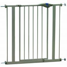 Bariéra pre psy kovová, sivá - 75-84x75 cm