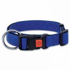 Obojok DOG FANTASY Classic, koženkový, modrý - M