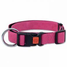 Obojok DOG FANTASY Classic, koženkový, ružový - M