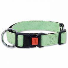 Obojok DOG FANTASY Classic, koženkový, zelený - L