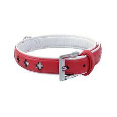 Obojok dog fantasy design, červený - 27 cm