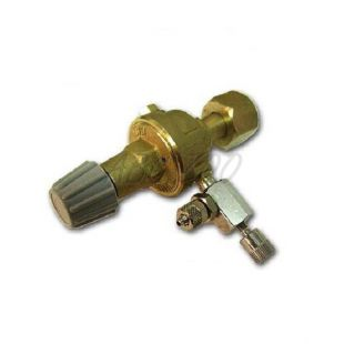 """Redukčný ventil CO2 - závit W21,8x1/14"""" + ihlový ventil, (bez budíkov)"""