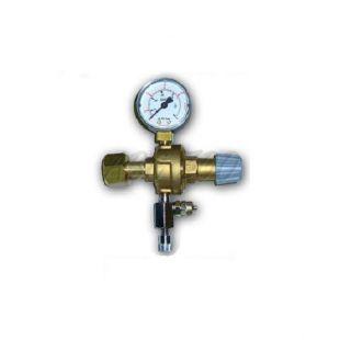 """Redukčný ventil CO2 - závit W21,8x1/14"""" + ihlový ventil, ( 1x man)"""