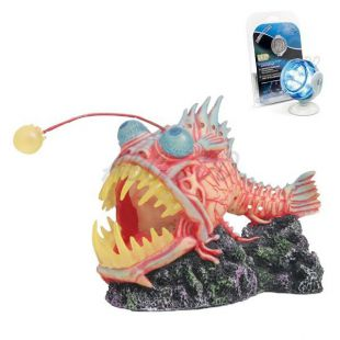 Dekorácia - Monster Fish s modrým LED osvetlením