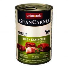 Konzerva GranCarno Fleisch Adult králik + bylinky - 400 g