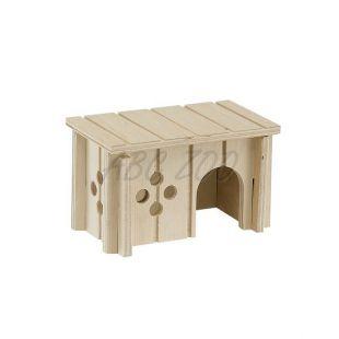 Domček pre malé hlodavce, drevený - 12,5x7,5x7cm