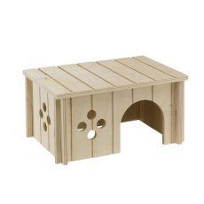 Domček pre stredne veľké hlodavce, drevený - 26x17,3x13cm