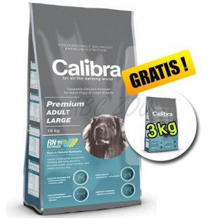 CALIBRA Premium Adult Large 12 kg + 3 kg