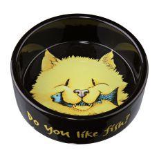 Miska pre mačky čierna, keramická - 0,3l