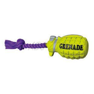 Hračka pre psy - pískajúci granát na lane, 22cm