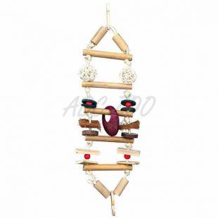 Závesný bambusový rebrík pre vtáky - 45 cm