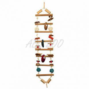 Závesný bambusový rebrík pre vtáky - 70 cm