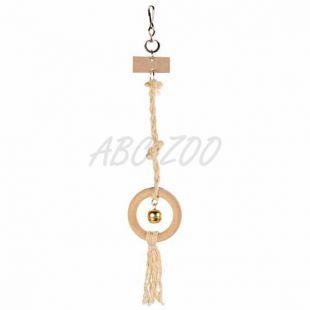 Drevená hračka na sisalovom lanku - 41 cm