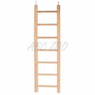 Veľký drevený rebrík pre papagáje - 70 cm