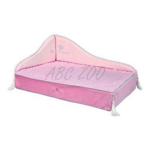 Pelech pre psy a mačky Princess sofa, ružový - 60 x 45 cm