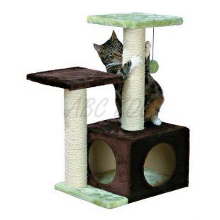 Škrabadlo pre mačky VALENCIA  - 71 cm, hnedozelené