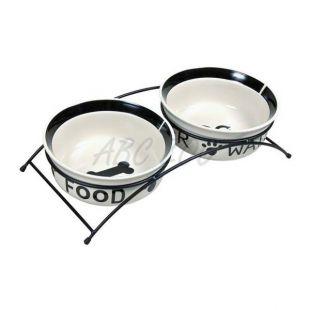Dve keramické misky so stojanom - 2 x 0,6 l