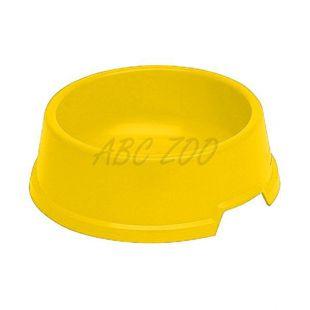 Miska pre psa BUFFET 4 - plastová, žltá - 1,3L