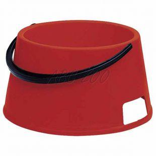 Miska pre psa s rúčkou BUFFET 7 - plastová, červená - 7L