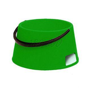 Miska pre psa s rúčkou BUFFET 7 - plastová, zelená - 7L