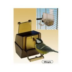 Krmítko pre vtáky Olimpia hnedé - 6 x 9 x 9 cm