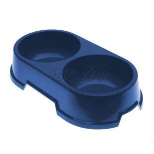 Dvojmiska pre psov BUFFET 22 - modrá, 2 x 500 ml