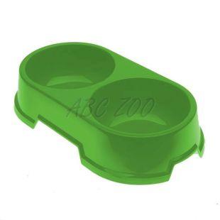 Dvojmiska pre psov BUFFET 23 - zelená, 2 x 900 ml