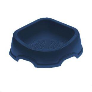 Rohová miska pre psa SNACK 31 - plastová, modrá, 500 ml