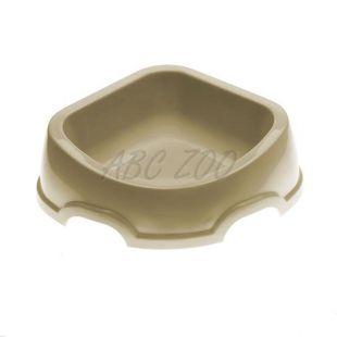 Rohová miska pre psa SNACK 31 - plastová, sivá, 500 ml