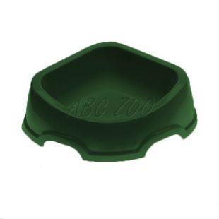 Rohová miska pre psa SNACK 31 - plastová, zelená, 500 ml