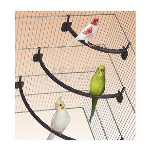 Bidlo pre vtáky plastové hnedé - 1,2 x 27 cm