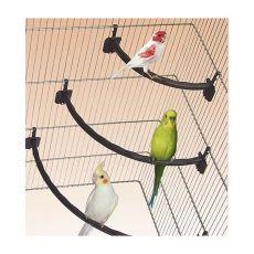 Bidlo pre vtáky plastové BIELE - 1,2 x 21 cm