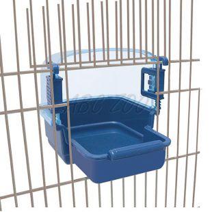Kúpeľnička pre vtáky RIO 2 - modrá, 15 x 19 x 15 cm