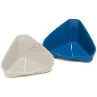 Rohová toaleta NORA 1 modrá - 18 x 13 x 9 cm