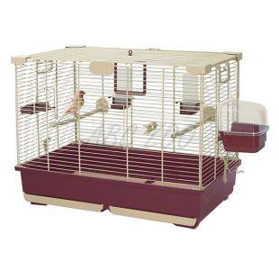 Klietka pre vtáky ESTER 72 bordová - 72 x 44 x 54 cm