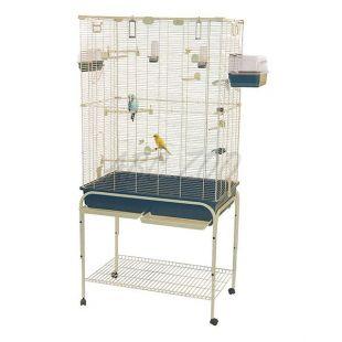 Klietka pre vtáky DELFI 82 modrá - 82 x 51 x 170 cm