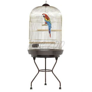 Klietka pre papagáje LIA zlatá - 68 x 170 cm